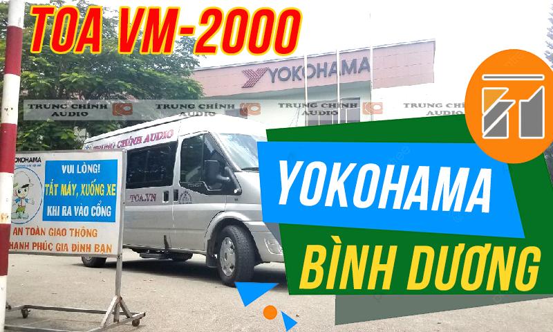 Hệ thống âm thanh TOA VM-2000 thông báo nhà máy, nhà xưởng, văn phòng Yokohama Bình Dương