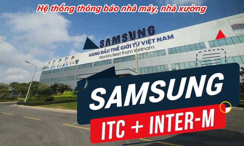 âm thanh thông báo nhà máy, nhà xưởng: Samsung Thái Nguyên, Bắc Ninh