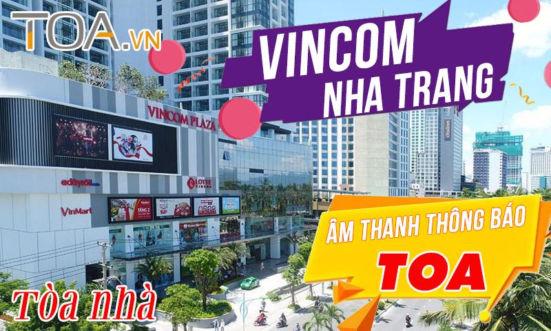 Âm thanh thông báo cho tòa nhà: Trung tâm thương mại Vincom Plaza
