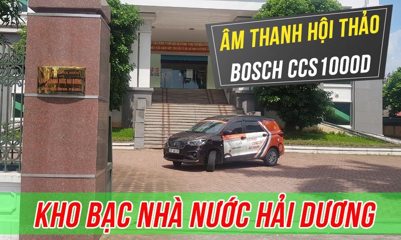 Hệ thống hội thảo Bosch CCS1000D trực tuyến: phòng họp Kho bạc nhà nước Hải Dương