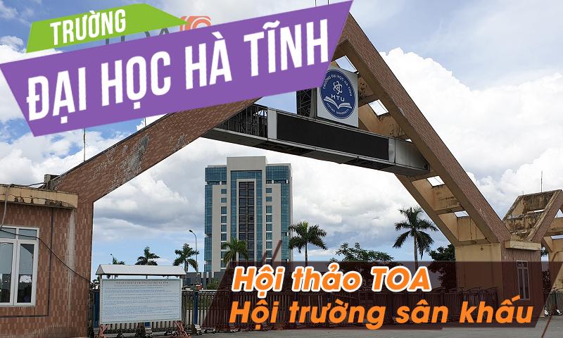 Hệ thống hội thảo TOA TS-780, âm thanh phòng họp hội trường: Đại học Hà Tĩnh