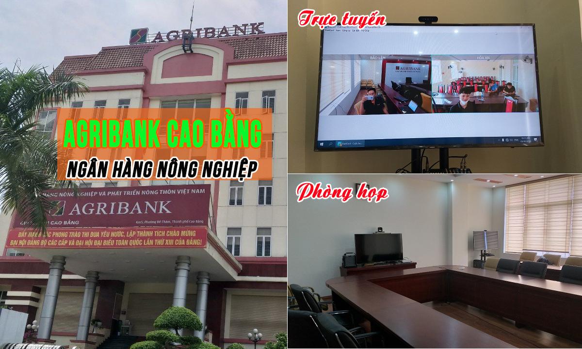 Hội nghị truyền hình, phòng họp trực tuyến 14 điểm: Ngân hàng Nông Nghiệp