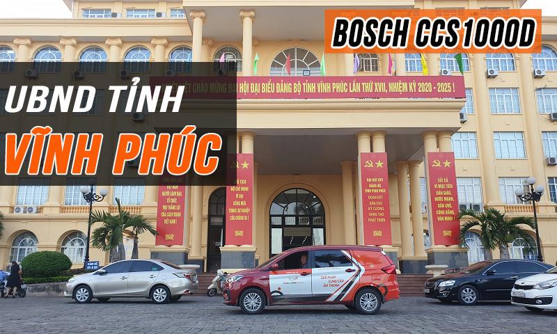 Thi công âm thanh phòng họp Bosch CCS1000D trực tuyến: UBND tỉnh Vĩnh Phúc