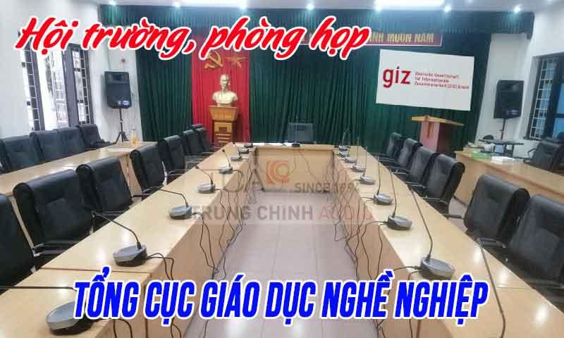 Âm thanh phòng họp hội trường Văn phòng chính phủ tại: Tổng Cục GDNN