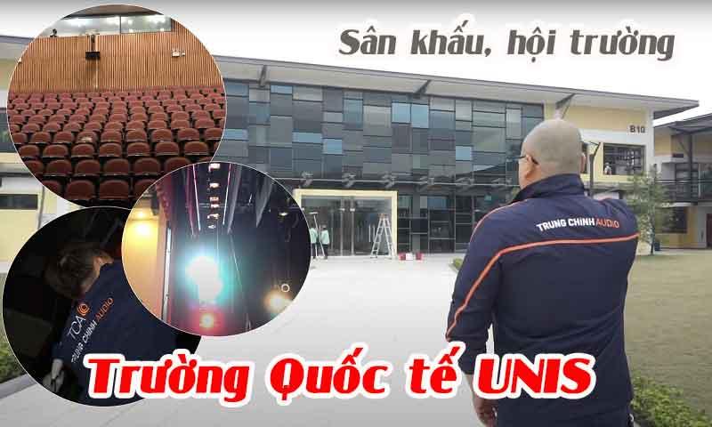 Lắp đặt âm thanh hội trường, ánh sáng sân khấu Trường Quốc tế UNIS, Hà Nội