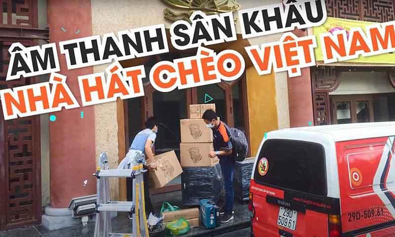 Lắp đặt đèn ánh sáng sân khấu tại: Nhà hát Chèo Việt Nam