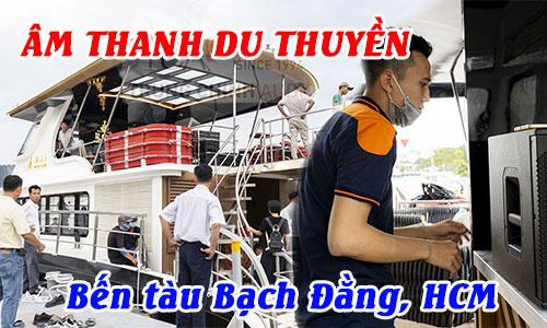 Test hệ thống âm thanh du thuyền ROS, loa EV ELX200 tại: Bến tàu Bạch Đằng, HCM