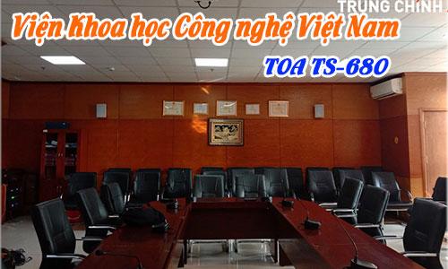 Hệ thống hội thảo TOA TS-680 âm thanh phòng họp trực tuyến: Viện khoa học Công nghệ Việt Nam