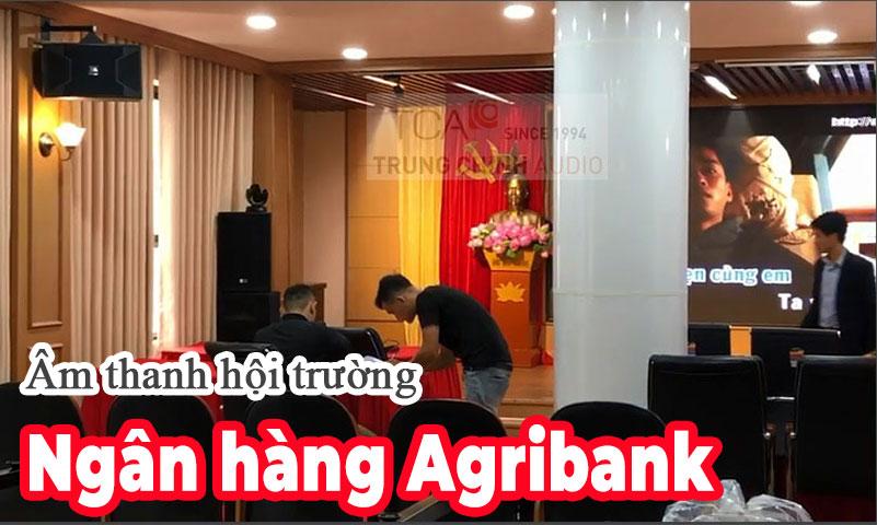 Lắp đặt bộ dàn âm thanh hội trường, thiết bị phòng họp: Agribank Láng Hạ, Hà Nội
