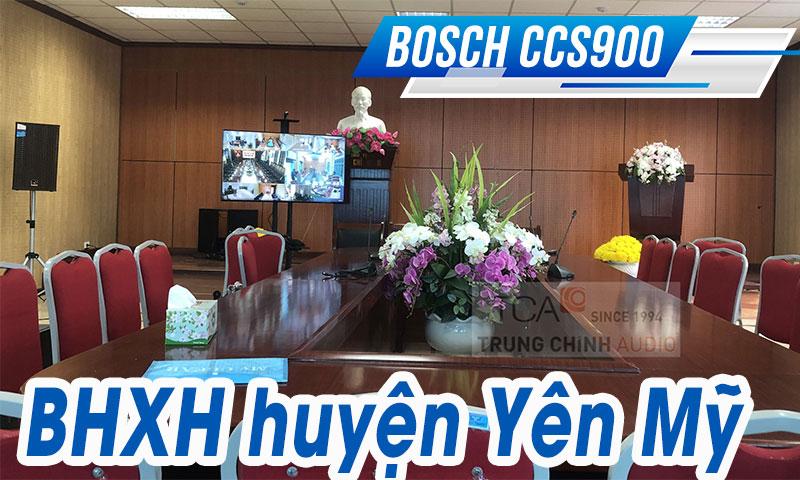 Hệ thống âm thanh trực tuyến Bosch CCS900: Bảo hiểm xã hội huyện Yên Mỹ, Hưng Yên