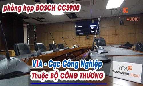 Âm thanh hội thảo Bosch có dây phòng họp trực tuyến, loa hội trường Yamaha: VIA - Bộ Công Thương