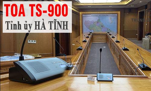 Thiết bị micro âm thanh hội thảo không dây TOA TS-900: Tỉnh ủy Hà Tĩnh