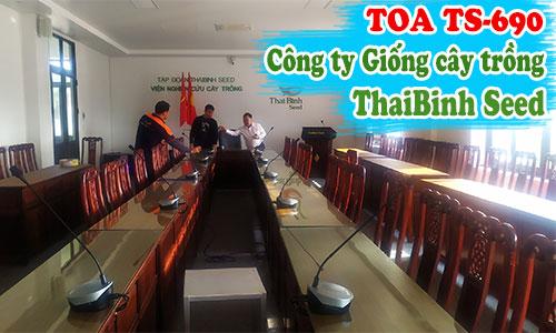 Hệ thống âm thanh hội nghị trực tuyến TOA tại: Viện Giống cây trồng ThaiBinh Seed