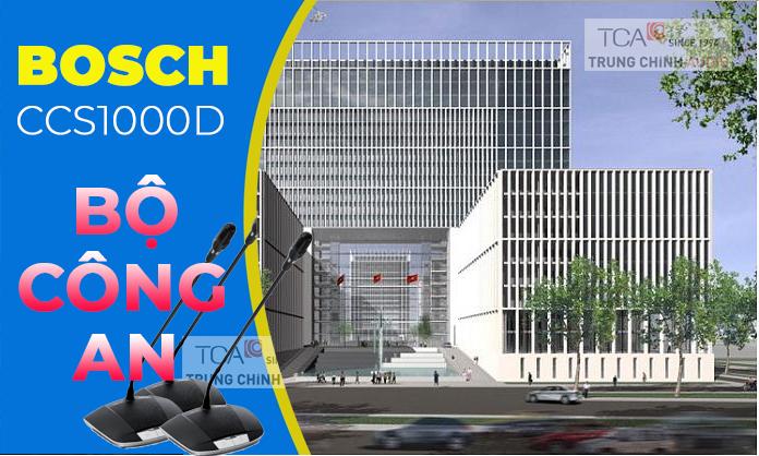 Lắp đặt âm thanh phòng họp hội trường Bosch CCS1000D tại: trụ sở Bộ Công An