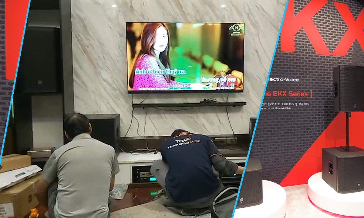 Lắp đặt combo karaoke gia đình cao cấp Electro-Voice tại Giải Phóng, Hà Nội