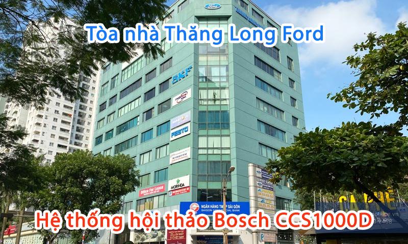 Lắp đặt âm thanh hội họp trực tuyến Bosch CCS1000D tại công ty Ford Thăng Long