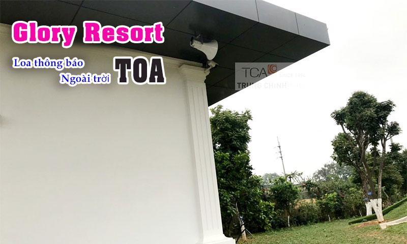 Lắp loa nén thông báo TOA ngoài trời tại khu nghỉ dưỡng resort Glory, Sơn Tây