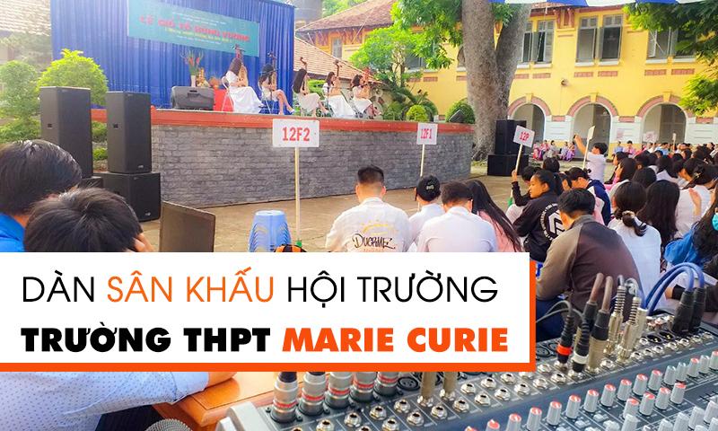 Lắp đặt âm thanh sân khấu hội trường trường học tại THPT Marie Curie, TP.HCM