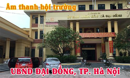 TCA lắp đặt bộ dàn âm thanh hội trường cho UBND xã Đại Đồng, Thạch Thất, TP. Hà Nội