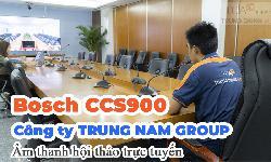 Thiết bị hội nghị truyền hình trực tuyến âm thanh phòng họp: Trung Nam Group