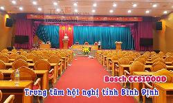 Âm thanh hội thảo Bosch CCS1000D cho phòng họp hội trường Trung tâm hội nghị tỉnh Bình Định
