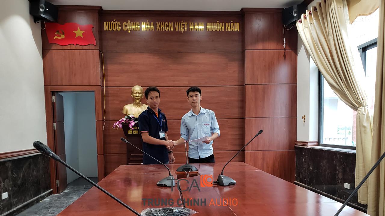 Hệ thống âm thanh phòng họp Bosch CCS900: hội thảo, hội nghị nhà máy ABC Hưng Yên