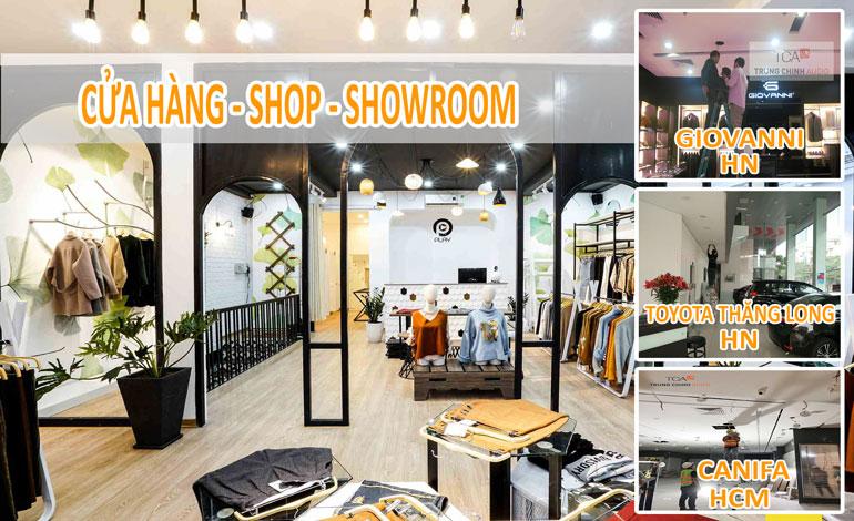 âm thanh cửa hàng: showroom, shop bán lẻ