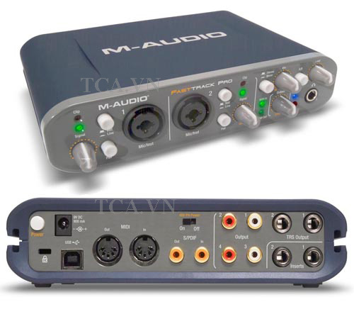 SOUND CARD FAST TRACK PRO-M-AUDIO, SUOND CARD FAST TRACK, SOUND CARD MAUDIO